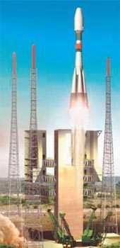 Un lancement Soyouz à Kourou (image de synthèse).crédit : CNES
