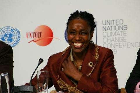 Dessima Williams, ambassadrice de Grenade et présidente de l'Aosis, l'alliance de petits Etats insulaires, explique que l'objectif doit être de limiter la hausse des températures à 1,5°C. © DR