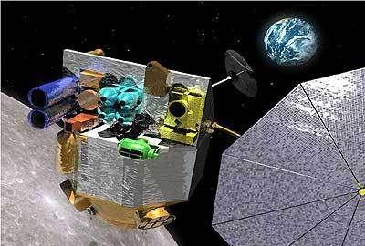 Vue d'artiste de la sonde Lunar Reconnaissance Orbiter