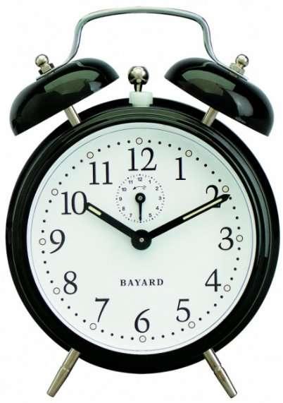 Un réveil mécanique, un cadeau pour Steve Jobs ? (Photo d'un modèle Bayard, trouvée sur Pendule-Shop