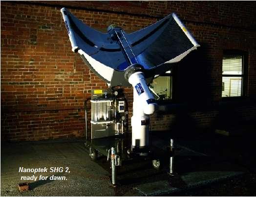 Une machine dont le fonctionnement ne s'explique que par la nanostructure de ses photoélectrodes. © John Guerra, Nanoptek