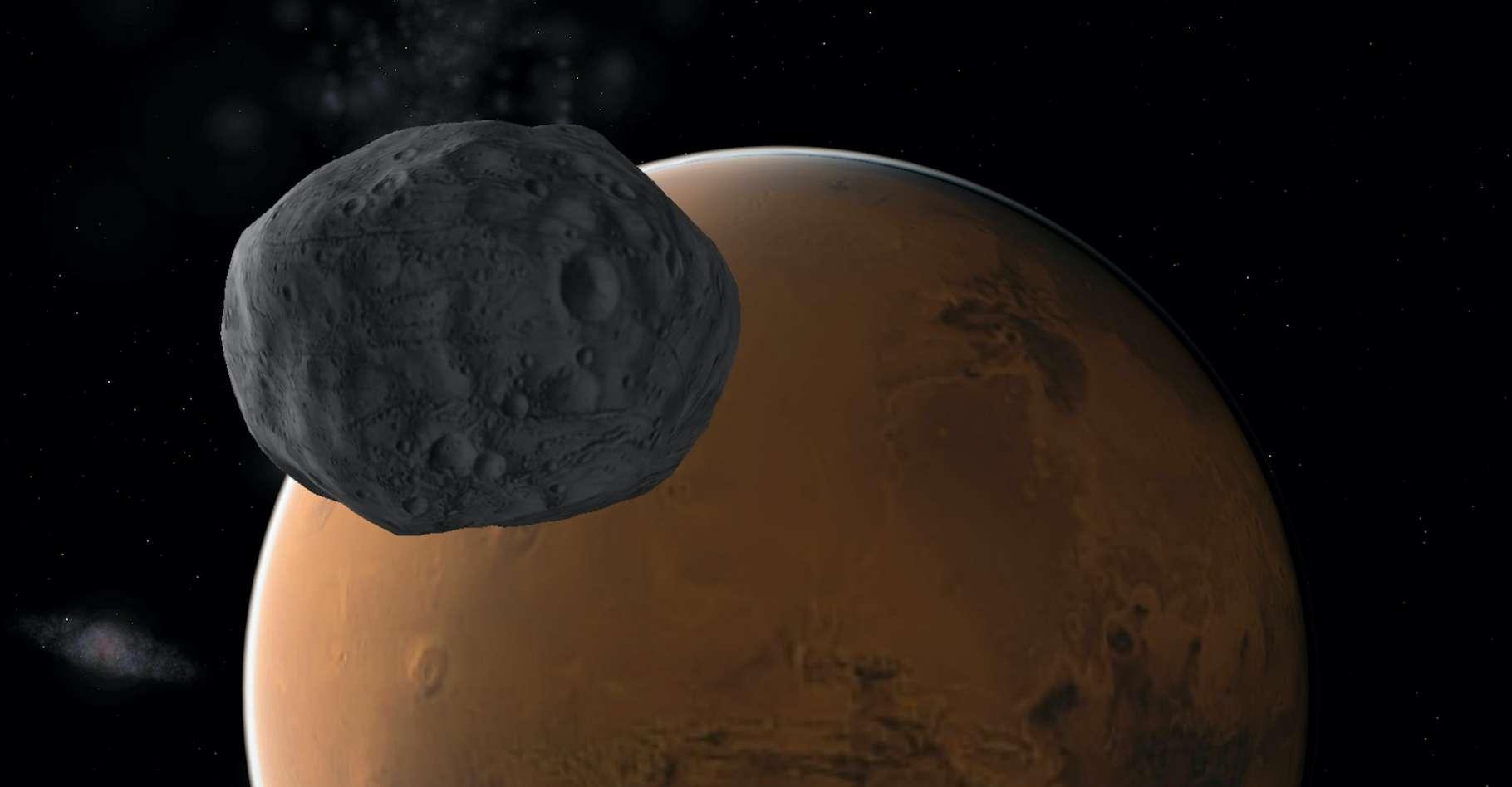 Le 4 avril 2020, Phobos, la plus grande lune de Mars, a éclipsé le Soleil. © NJ, Adobe Stock