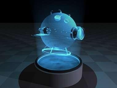 Image de la télévision holographique