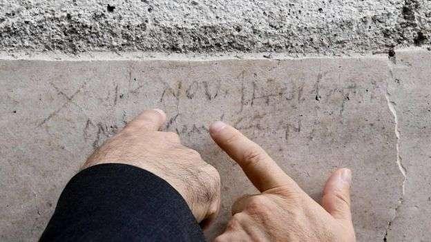 D'après une inscription tout juste découverte dans les ruines de Pompéi, l'éruption destructrice du Vésuve aurait eu lieu en octobre et non le 24 août comme ce que l'on pensait précédemment. © EPA