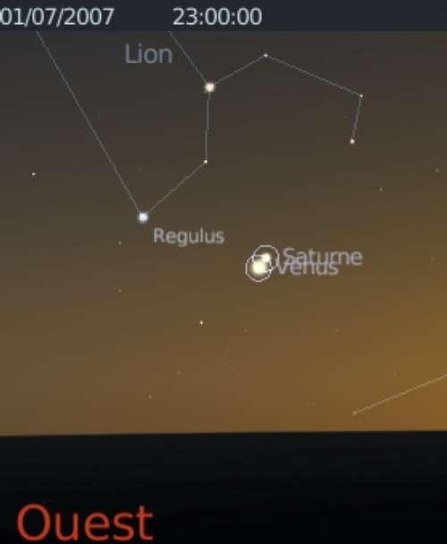 Les planètes Vénus et Saturne sont en conjonction