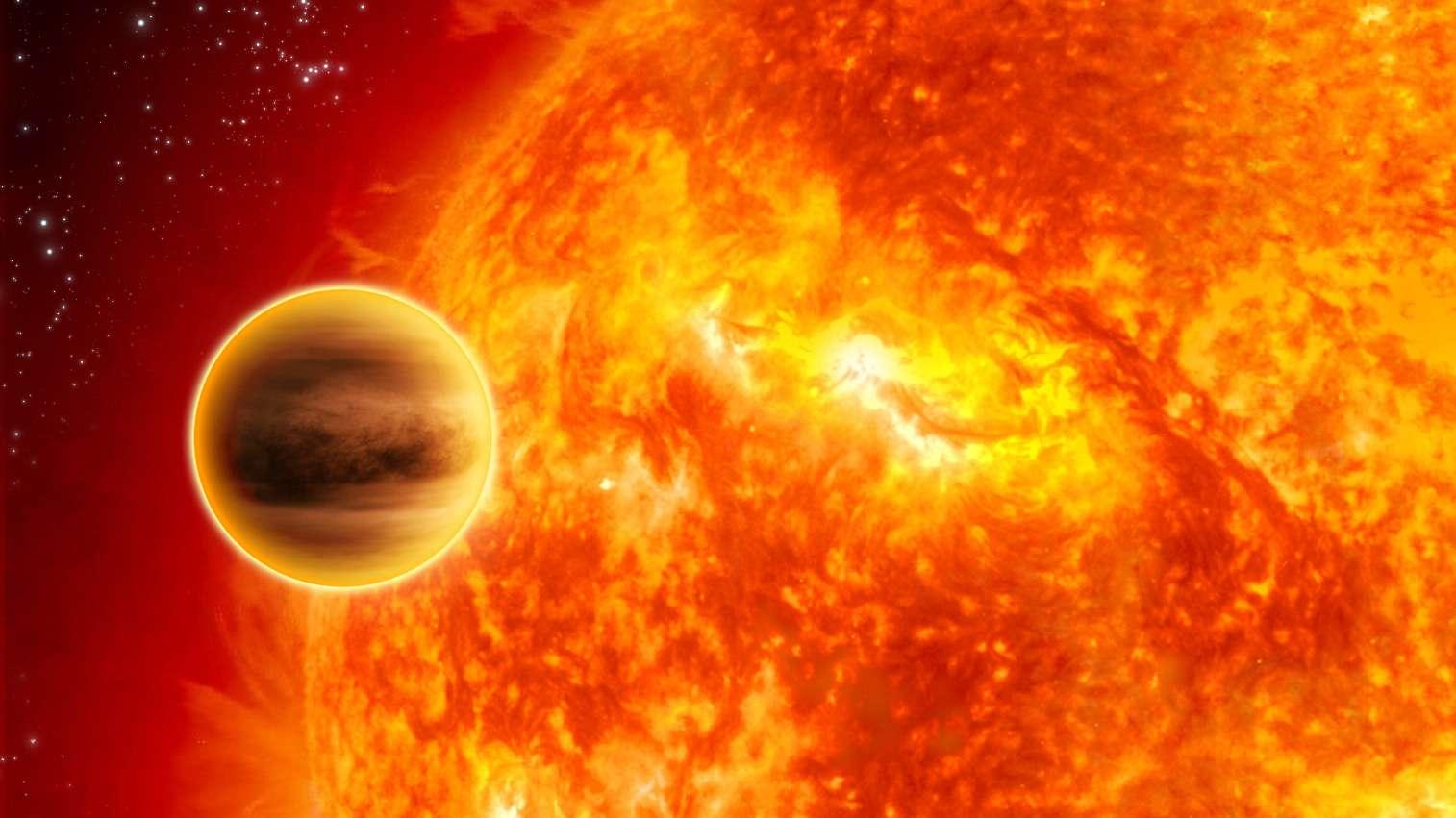 Illustration de 51 Pegasi b, la première exoplanète découverte. Deux fois moins massive que notre Jupiter, elle gravite en seulement 4,2 jours autour de son étoile qui ressemble au Soleil. Un monde surprenant, tout comme les 2.000 autres d'ores et déjà découverts. © Nasa, JPL-Caltech