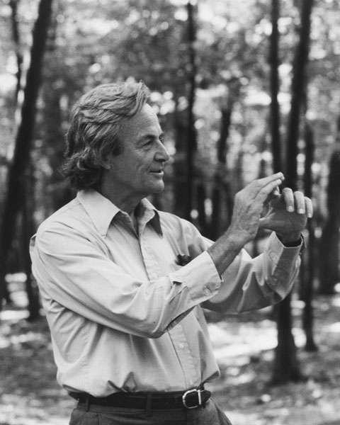 Le prix Nobel de physique Richard Feynman s'est intéressé à la réalisation d'ordinateurs quantiques au début des années 1980. Il est considéré comme un des pionniers de ce domaine. © Tamiko Thiel, Wikimedia Commons, cc by sa 3.0