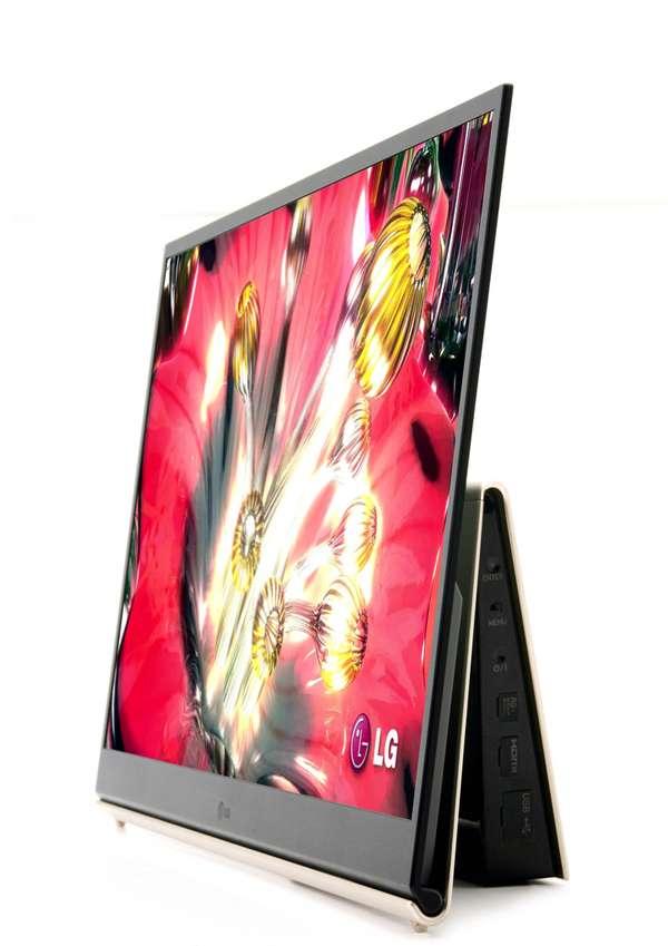 Téléviseur Oled 15 pouces commercialisé par LG à la fin de l'année. © 2009 LG