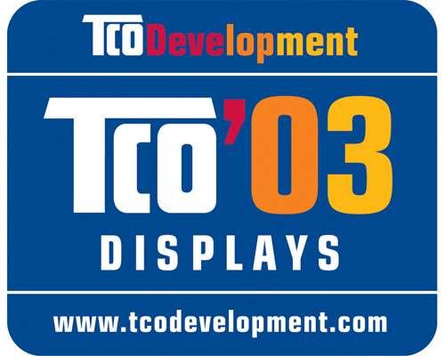 Le logo TCO a été créé par la Fédération syndicale suédoise des employés (Tjänstemännens Centralorganisation ou TCO). La présence de ce logo assure que le produit respecte des critères de qualité (luminosité, qualité de l'image) mais aussi environnementaux (puissance en mode veille…). Crédit : Ademe