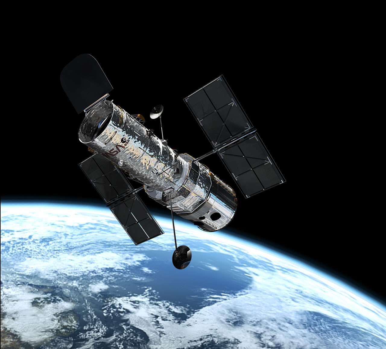 Illustration présentant le téléscope Hubble en orbite. © ESA