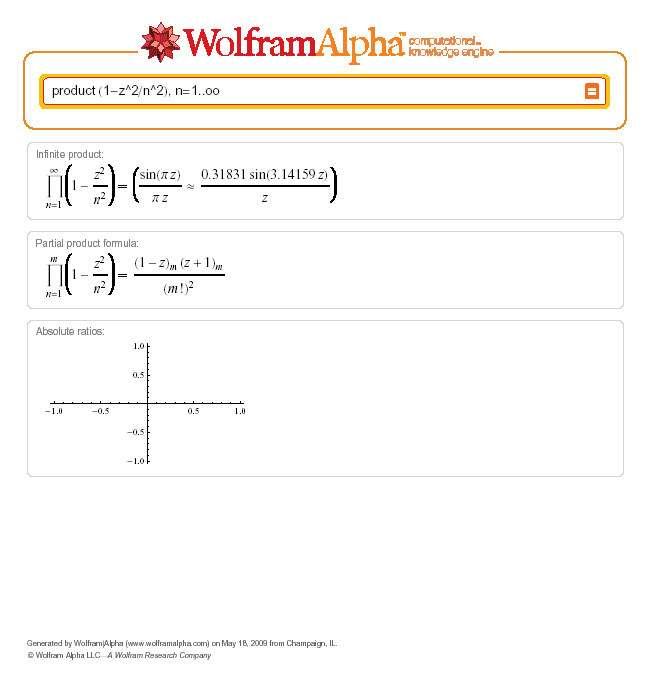 Actuellement, les performances les plus impressionnantes de Wolfram Alpha sont dans le domaine des mathématiques. Il rivalise avec Mathematica, ce qui n'est guère surprenant car il est basé sur ce logiciel. Crédit : 2009 Wolfram Alpha LLC/A Wolfram Research Company