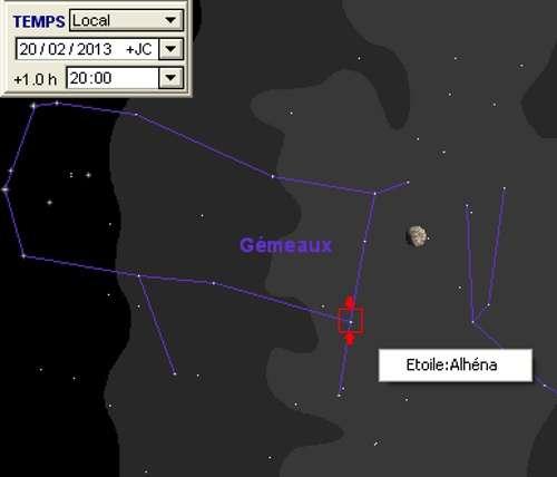 La Lune en rapprochement avec Alhéna