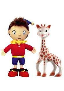 Sophie la girafe et le doudou Oui-Oui ont été parmi les 13 jouets à contenir des substances dangereuses. © DR