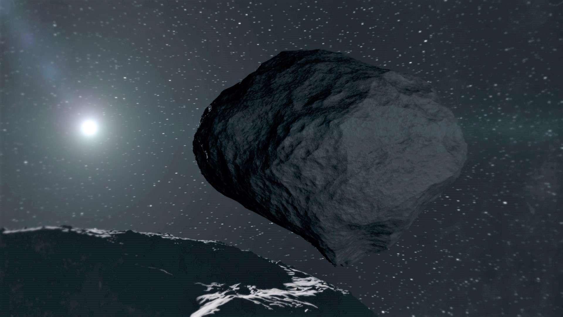 La sonde émiratie sera chargée d'étudier la composition de l'astéroïde. © ESA