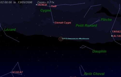 Les 3 fragments principaux de la comète Schwassmann-Wachmann (73/P) seront au plus près de la Terre