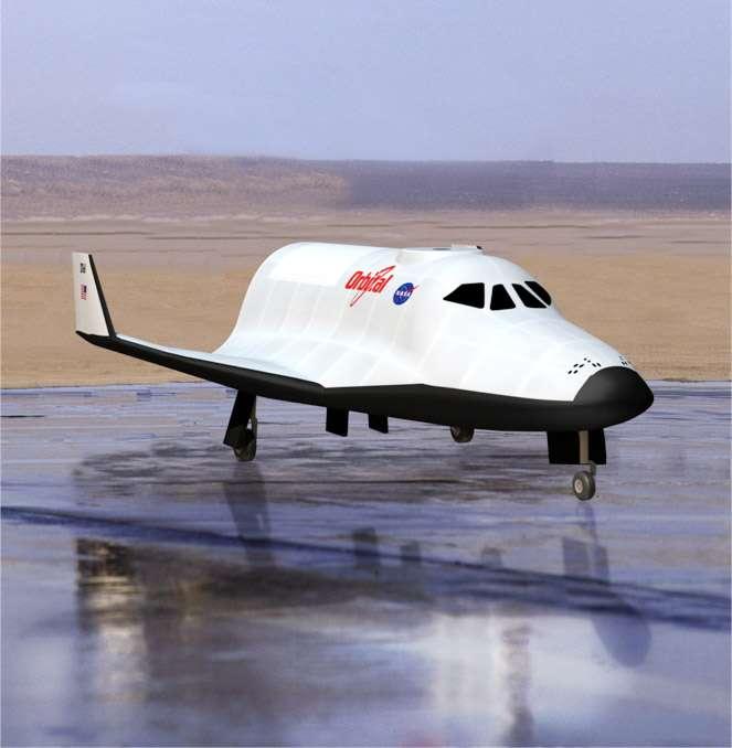 Avec son avion spatial en forme de mini navette, Orbital Sciences entre dans la course aux vols spatiaux habités privés, encouragée à grands renforts de dollars que la Nasa distribue dans le cadre de différents programmes, dont CCDev et Cots. © Orbital Sciences