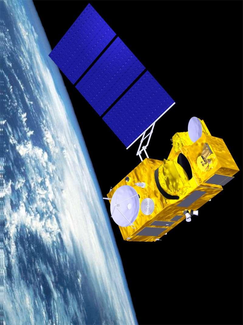 Sentinelle-3, autre satellite de GMES construit par Thales Alenia Space, sera dédié à l'océanographie et à la surveillance de la végétation. © Esa