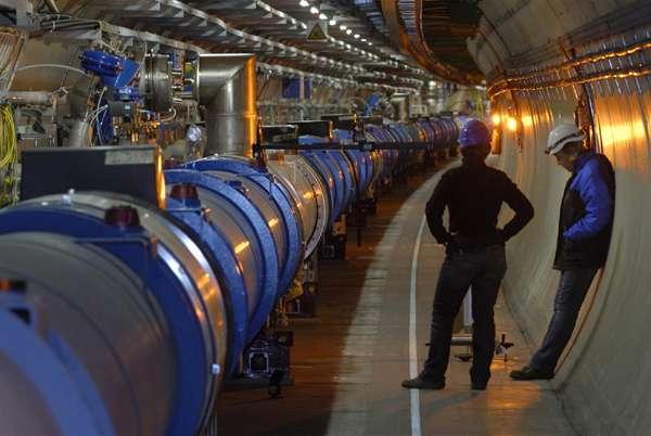 Une vue du LHC. Crédit : Cern