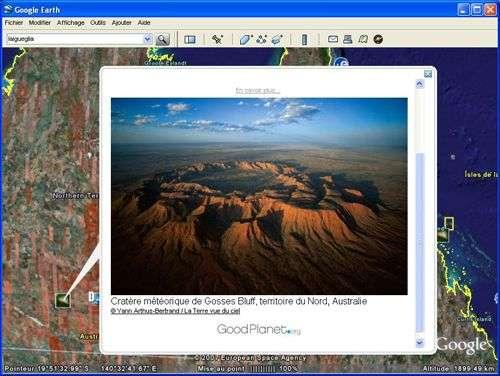 La Terre vue du ciel dans Google Earth. Capture d'écran Google Earth.