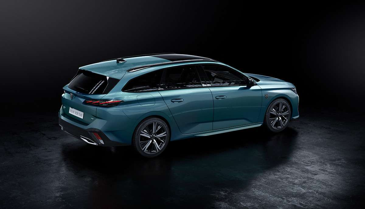 Peugeot aura un bel atout dans sa manche avec ce break 308 SW hybride. © Peugeot