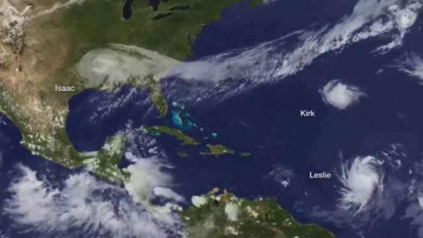 La saison 2012 des ouragans dans l'Atlantique en 4 minutes