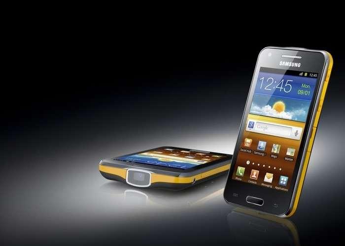 Prouesse. Avec ce Galaxy Beam, Samsung est parvenu à intégrer un picoprojecteur dans un smartphone aux dimensions relativement réduites. © Samsung