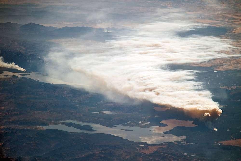 Les concentrations dans l'atmosphère de dioxyde de carbone, de méthane et de protoxyde d'azote ont atteint des niveaux inégalés en 2014. © AFP Photo, Nasa, Earthobservatory