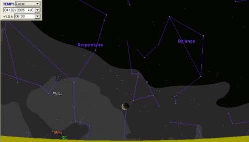 La Lune occulte l'étoile Antarès