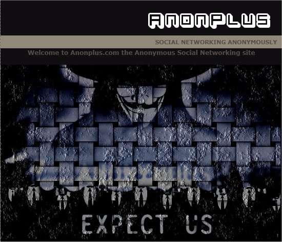 Le site d'AnonPlus annonce la couleur... © DR