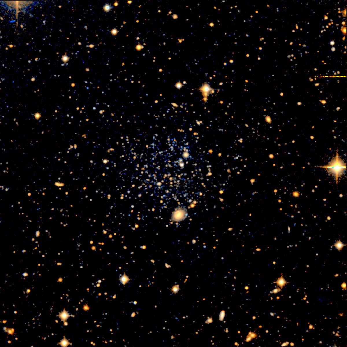 Leo-T, une des galaxies naines entourant la Voie Lactée. Crédit : Mike Irwin, SDSS-II Collaboration