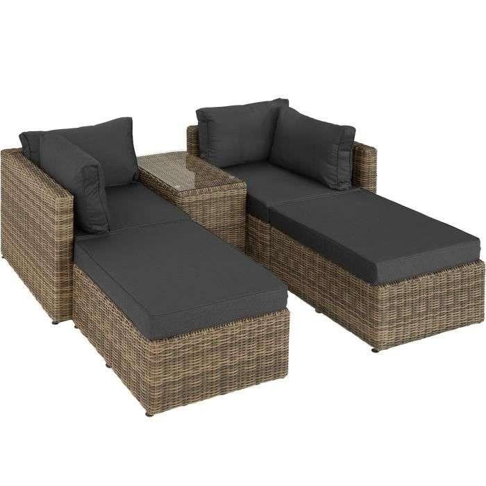 Le canapé de jardin SAN DOMINO de la marque TECTAKE © Cdiscount