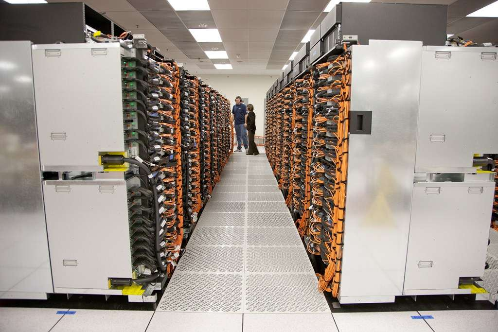 Le supercalculateur Saquoia se compose de 96 racks. © Lawrence Livermore National Laboratory Advanced Simulation and Computing