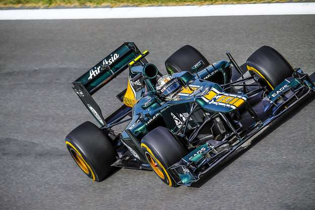 L'écurie de Formule 1 Caterham utilise un caoutchouc certifié pour l'espace dans le système d'amortissement de ses voitures. © Caterham F1 Team, Steven Tee, LAT Photographic