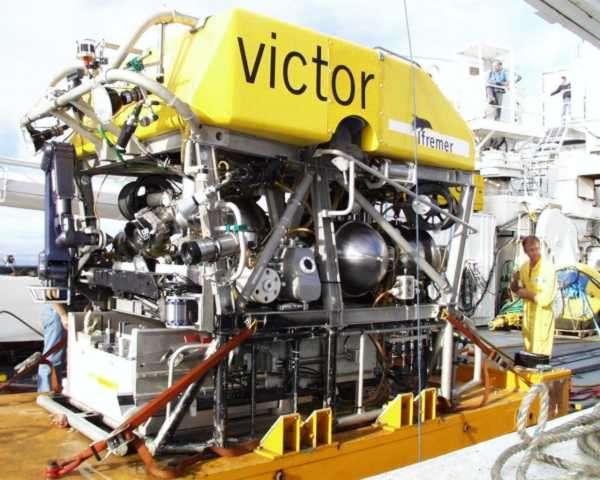Victor, le robot télécommandé sous-marin, ou ROV (Remote Operated Vehicle), qui a exploré la région d'Ashadze. © Ifremer