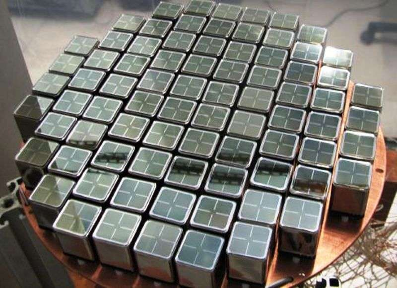 Un élément du détecteur Xenon 100 lors de sa construction. © Xenon Collaboration