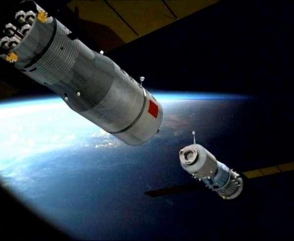 Tiangong-1, dont le lancement est prévu entre le 27 et le 30 septembre, devrait être rejoint en orbite par une capsule Shenzhou inhabitée pour s'y amarrer. © Cast