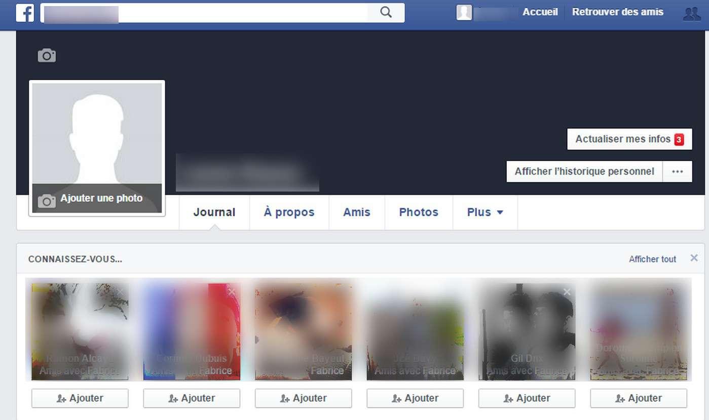 La sauvegarde d'un compte Facebook n'est pas automatique. Il faut en faire la demande. © Futura-Sciences