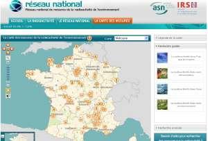 Le site en ligne des lieux radioactifs de France. © DR