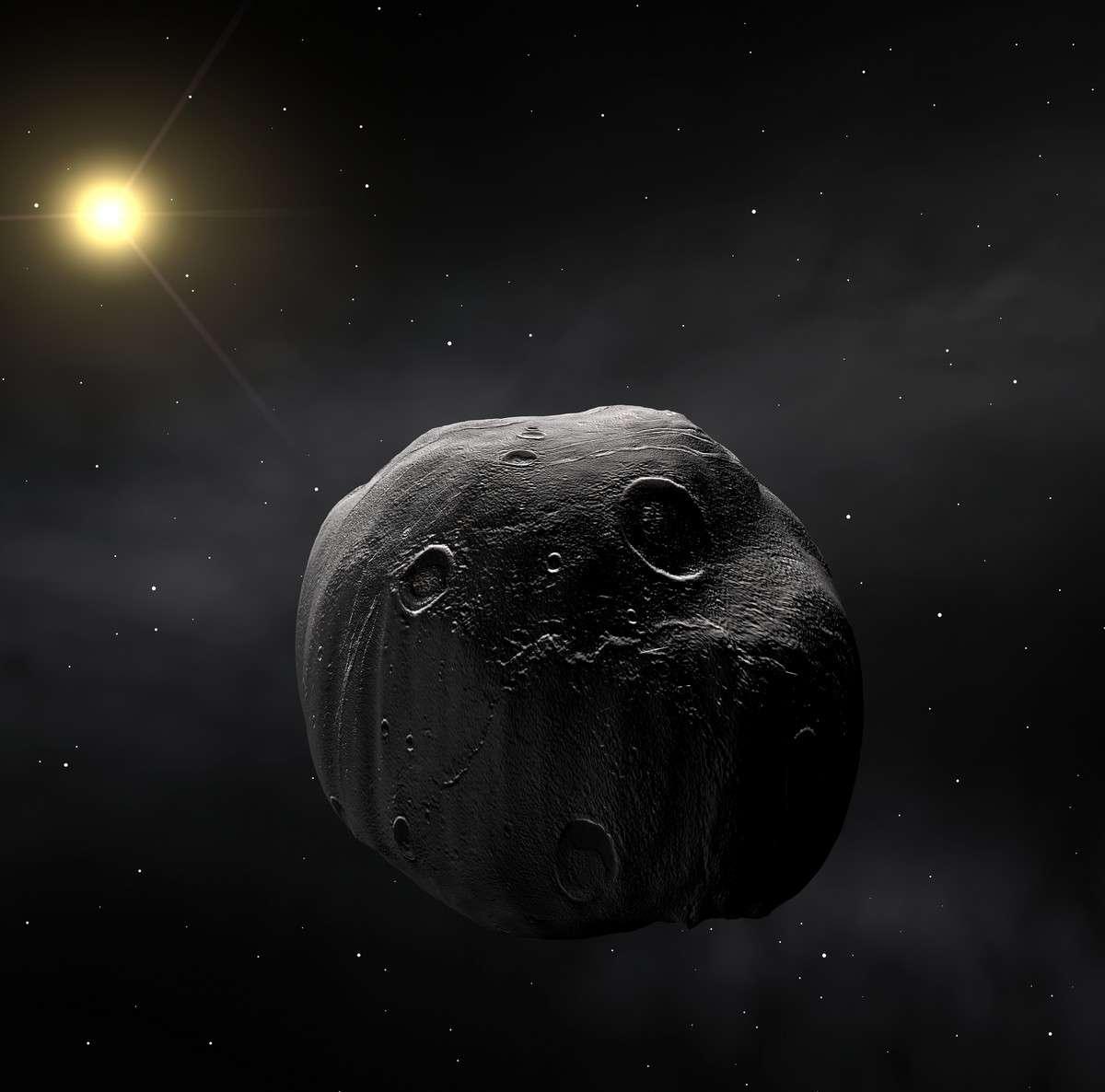 Dans la nuit du 8 au 9 juillet, l'astéroïde 472 Roma occultera pendant quelques secondes la brillante étoile Delta Ophiuchi grâce à un alignement fortuit avec la Terre. Cette vision d'artiste permet d'imaginer ce que verrait une sonde spatiale circulant dans la ceinture d'astéroïdes. Crédit Eso