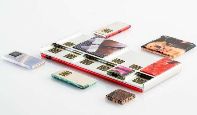 La commercialisation du smartphone modulable Ara, lancé par Google, sera testée cette année à Porto Rico. Les consommateurs pourront acheter différents modules pour améliorer ou réparer leur téléphone. © Google