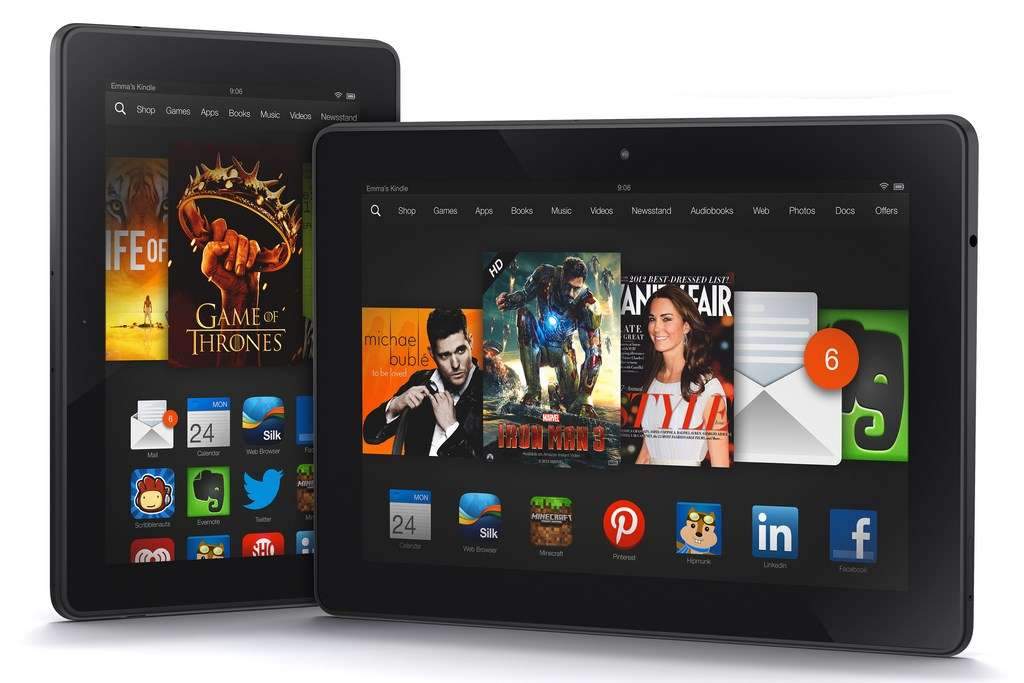Les nouvelles tablettes Kindle Fire HDX d'Amazon embarquent un nouveau System on a Chip quadruple cœur et reçoivent deux fois plus de mémoire vive (2 Go) que les modèles précédents. © Amazon