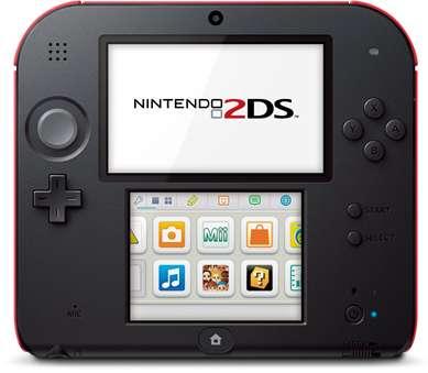 Nintendo surprend en lançant un modèle monobloc de console moins coûteux que la 3DS et de surcroît dépourvu d'écran 3D. Elle reste compatible avec les jeux en relief de la 3DS et 3DS XL. © Nintendo