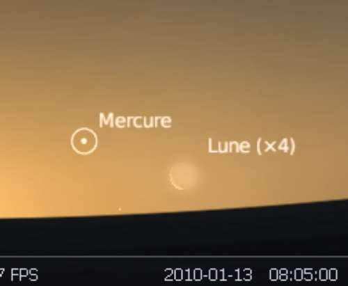 La Lune est en rapprochement avec la planète Mercure