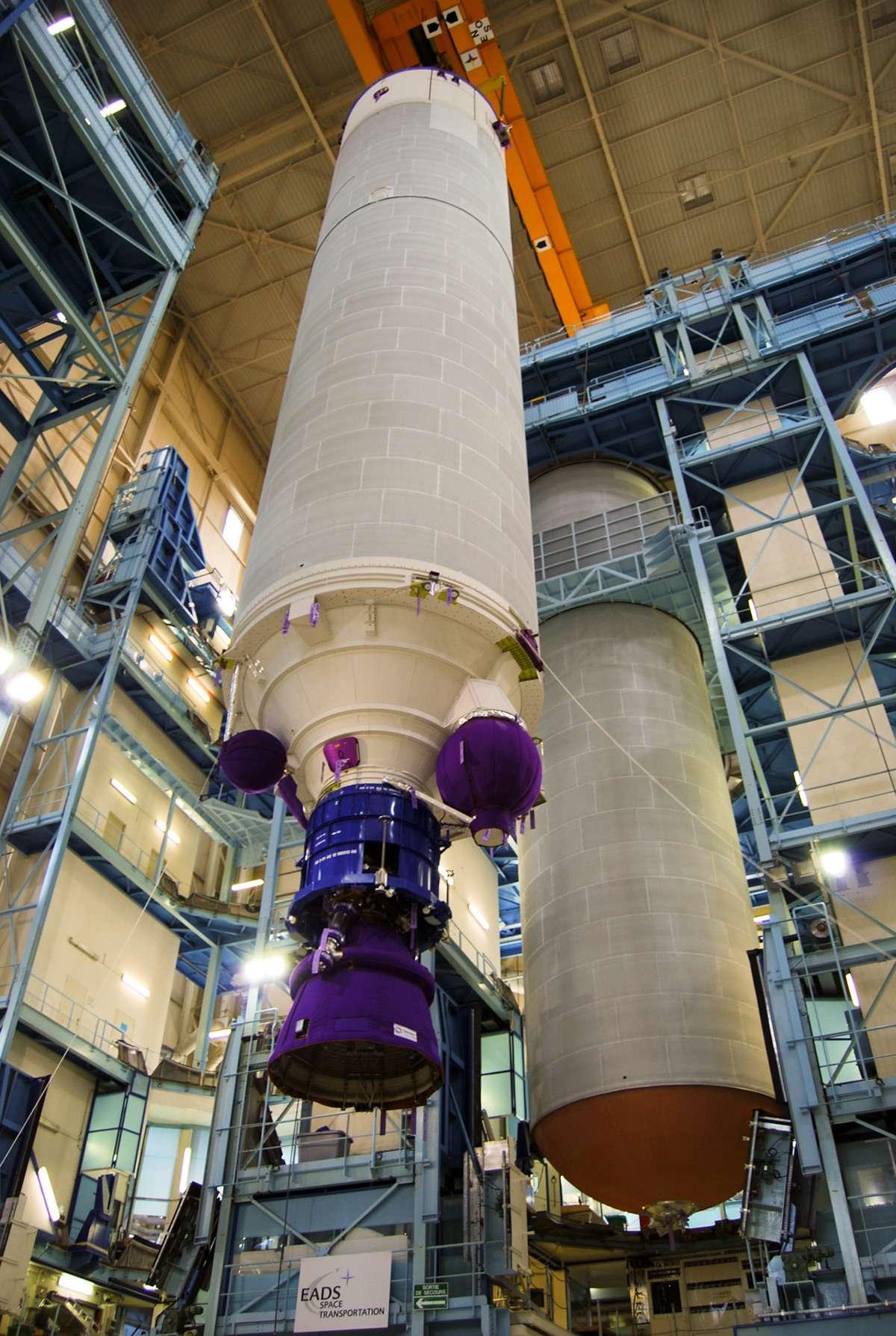 Si la Nasa retient le projet de système de lancement Liberty lors de la prochaine phase de CCDev, prévue fin août, Astrium est prêt à livrer à ATK, aux États-Unis, un étage EPC en vue d'un vol d'essai dès 2014. © Remy Decourt