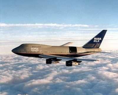 Le Boeing 747 de SOFIA en vol (Crédits : NASA)