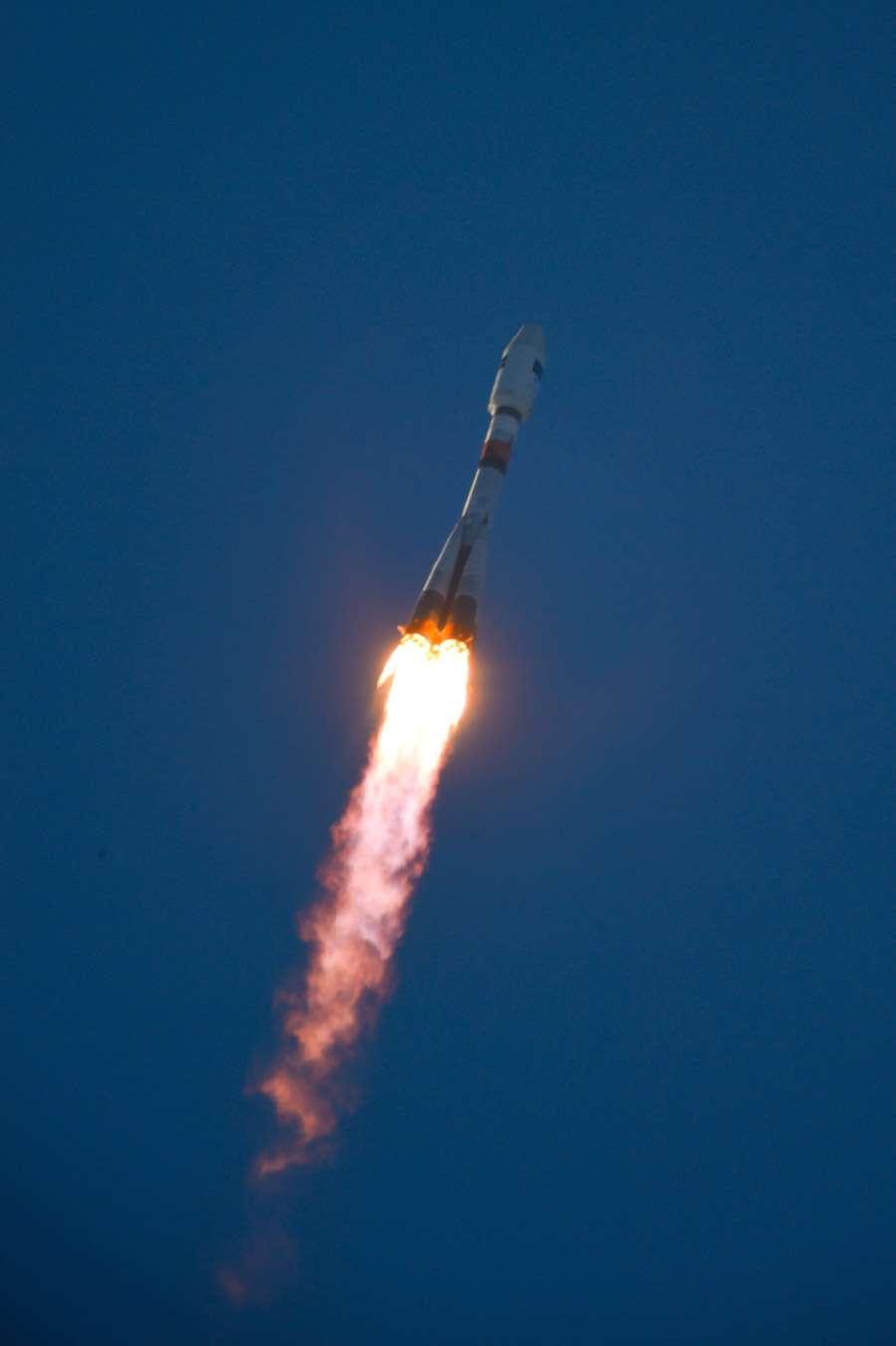 Décollage du lanceur Soyouz avec à son bord le satellite Sentinel 1A du programme Copernicus. © Esa, S. Corvaja