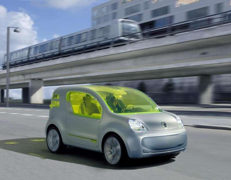 Le ZE Concept, ZE pour zéro émission, une étude de Renault pour un véhicule tout électrique, sur la base d'une Kangoo. © Renault