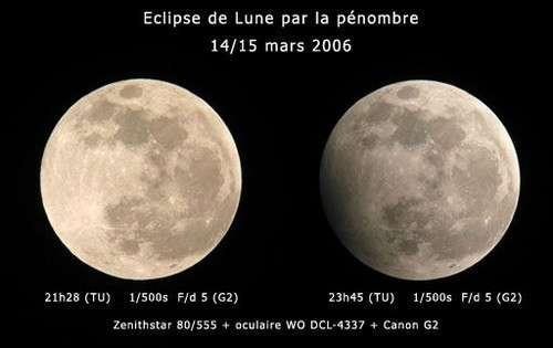 Éclipse de Lune par la pénombre. © DR