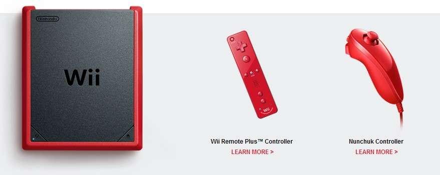 La Wii mini que Nintendo vient de lancer au Canada. Plus petite que la Wii classique, elle est dépourvue de connexion Internet et n'est pas compatible avec les jeux de la console GameCube. Une version allégée destinée à un public qui ne voudrait investir plusieurs centaines d'euros dans une Wii U tout en ayant l'impression d'acheter une nouvelle console. © Nintendo
