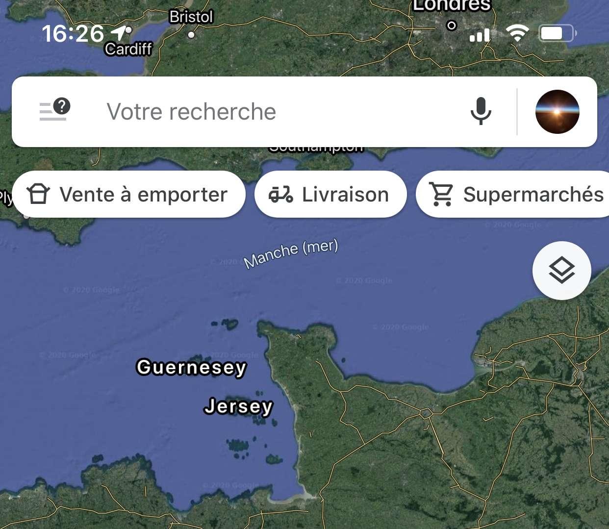 Google Maps propose de localiser en un clin d'oeil les restaurants proposant de la vente à emporter ou même la livraison à domicile. © Google Maps
